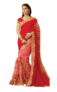 http://www.thatsend.com/shopping/lp/fvp/TESG216426/i/TE280300/iu/red-viscose-traditional-saree  Red Viscose Traditional Saree Apparel Pattern Embroidered. Work Zari, Hand Embroidery, Border Lace. Blouse Piece Yes. Embroidery Method Machine.