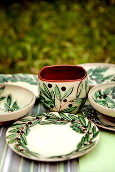 Olives Ceramics handmade of fine red clay \u0026 hand & Olives Dinnerware... A beautiful pattern for a Mediterranean style ...