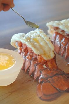my favourite way to eat lobster -- boiled and dunked in clarified butter