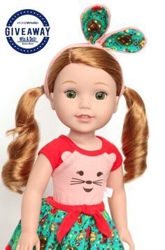 """Enter to win this adorable doll """"Willa"""" @ pixie!"""