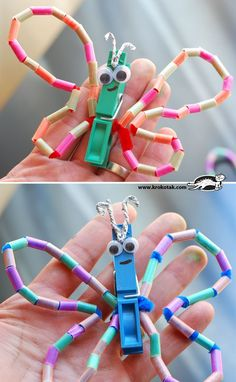 DIY butterfly craft made from straws... Great for find motor and SO CUTE!