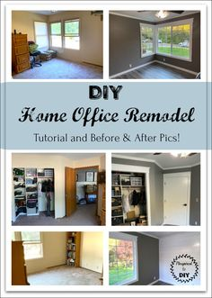 DIY Home Office RemodelDIY Home Office Remodel