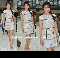 Tres chic combo - a charming side-braid & white Arpan Vora dress