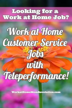 Teleperformance is seeking home-based customer service associates in the U.S. to provide awesome customer service to its customers. This work from home position appears to be full-time. If you're seeking  a work at home job, Work at Home Mom Revolution is the place to start! We publish fresh work at home job leads every day! You can make money from home!