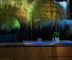 Rainforest by Patrick Nadeau for Boffi - Tillandsia and Moss chandeliers