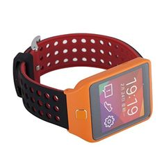 22mm Silicone Quick Release SmartWatch Bands for Moto 360 2 46mm / Samsung Gear 2,Gear 2 Neo,Gear 2 Live / LG G Watch W100,R W110,Urbane W150 / Pebble Time & Time Steel (Black/Red) - Brought to you by Avarsha.com