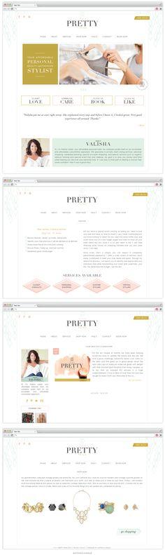 Brand and Website Design :: It's A Pretty Thing - Saffron Avenue : Saffron Avenue