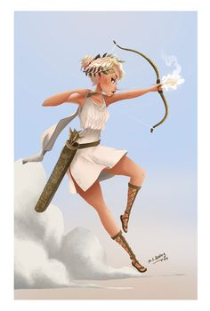 """For this weekly jam as a theme of greek goddess I chose """"Artemis"""", hope you … Character Inspiration, Character Art, Character Design, Percy Jackson, Greek Mythology Art, Greek Goddess Art, Artemis Greek Goddess, Hunter Of Artemis, Spirit Fanfic"""