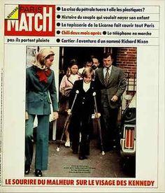 1973. 15 Décembre. PARIS MATCH N°1284 - LA FAMILLE KENNEDY Paris Match, Couple, Magazine, Baseball Cards, Sports, Hs Sports, Magazines, Sport, Couples