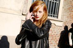 Street look à la Fashion Week de Milan automne-hiver 2014-2015, Jour 5 http://www.vogue.fr/defiles/street-looks/diaporama/fashion-week-milan-les-street-looks-automne-hiver-2014-2015-jour-5-fw2014/17687/image/964225#!street-look-a-la-fashion-week-de-milan-automne-hiver-2014-2015-jour-5