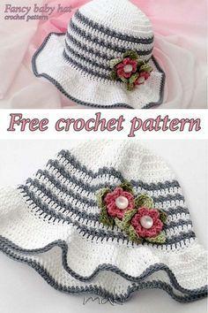 Fancy Baby Hat - Free Crochet Pattern by Maki