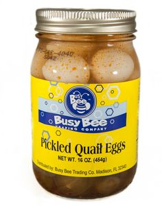 Bring some of the south home with you- Pickled Quail Eggs