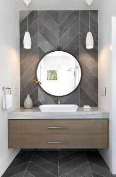 Delicate Contemporary Dark Wood Bathroom Vanity Design Ideas To Have – Bathroom Inspiration Modern Bathrooms Interior, Modern Bathroom Design, Bathroom Interior Design, Interior Decorating, Decorating Ideas, Contemporary Bathrooms, Bath Design, Interior Modern, Decorating Bathrooms