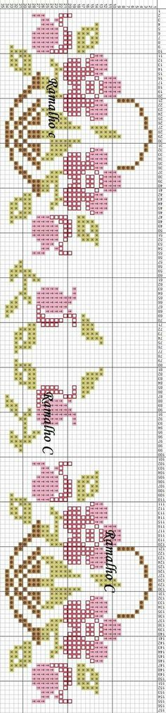 programe de broderie, tip band Cross Stitch Bookmarks, Cross Stitch Borders, Cross Stitch Samplers, Cross Stitch Flowers, Cross Stitch Charts, Cross Stitch Designs, Cross Stitching, Cross Stitch Embroidery, Hand Embroidery