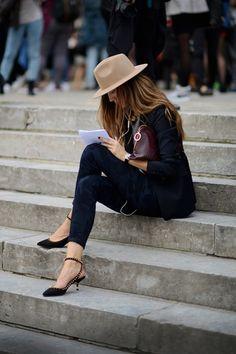 put a hat on it. #neutrals #effortless