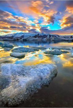 Icelandic Paradise, Iceland - sunset
