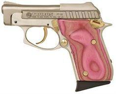 Taurus PT22 Pistol Model PT-22 .22 Long Rifle 2.75 Inch Tip-Up Barrel Nickel Finish Fixed Sights Pink Laminate Grips Gold Accents 8 Round Taurus Handguns (Pistols)