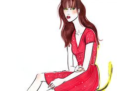 """Check out new work on my @Behance portfolio: """"Fashion sketch"""" http://be.net/gallery/38390677/Fashion-sketch"""