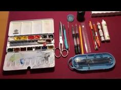 My Watercolor painting materials.