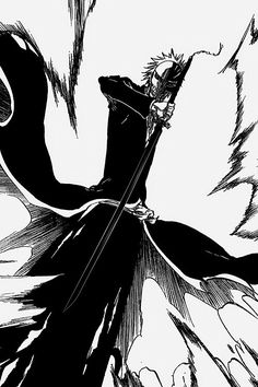Bleach Fanart, Bleach Manga, Anime Chibi, Manga Anime, Bleach Ichigo Bankai, Tensa Zangetsu, Bleach Tattoo, Bleach Pictures, Yin Yang Art