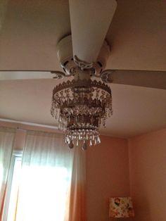 Batchelors Way: DIY Ceiling Fan Chandelier! | Lighting | Pinterest ...