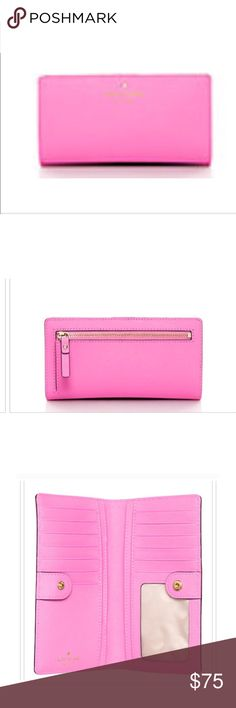 💕KATE SPADE CEDAR ST PRETTY IN PINK WALLET SALE GORGEOUS KS WALLET, BEAUTIFUL LEATHER, plenty of room for credit cards, bills change etc. see full description in photo lineup! *️⃣Price is Firm unless Bundled. No offers. No Trades. kate spade Bags Wallets