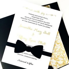 A classic black tie event requires a classic black tie wedding invitation . .  #blacktie #blacktieevent #blacktieaffair #bowtie #black #bespoke #SpiffyGetsMarried #invitationsuite #wedding #engaged #beautiful #classy #classic #lovewins #lovely #lgbt #lesbianbride #twobrides #mrsandmrs #moderncalligraphy #calligraphy #earnestbee #weddinginspiration #weddingplanning #bridetobe #bostoncalligrapher #bostonwedding