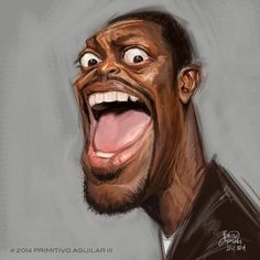 Chris Tucker by Tivo Aguilar Dope Cartoon Art, Dope Cartoons, Cartoon Faces, Funny Faces, Chris Tucker, Funny Caricatures, Celebrity Caricatures, Black Art Pictures, Caricature Drawing