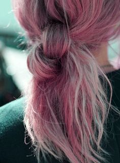 pretty hair girl vintage indie Grunge pink Alternative pink hair knot gurl grunge hair soft grunge
