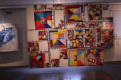 """Margaret Black's """"Line Study which was named Best of Show in the 2017 Quilt National exhibition. Line Study, African Interior, Barn Art, Black Quilt, Textile Art, Fiber Art, Joy, Quilts, Art Quilting"""