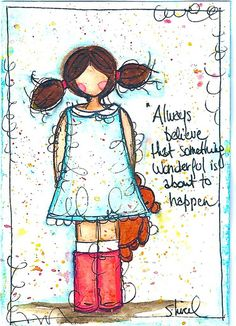 Always believe that something wonderful is about to happen. Art Journal Pages, Art Pages, Art Journals, Mixed Media Canvas, Mixed Media Art, Scrapbook, Art Journal Inspiration, Medium Art, Altered Art