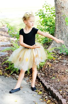 A DIY on How to Make a No Sew Button Embellished Autumn Nymph Tutu