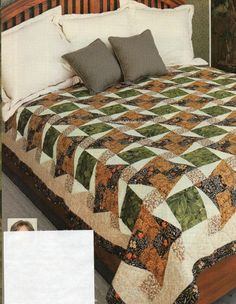 Square Knot Quilt Pattern Pieced SG