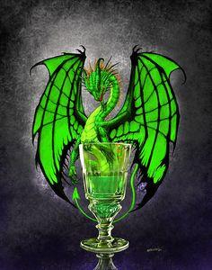 "Absinthe Dragon~ Stanley Morrison aka ""SMorrisonArt"""