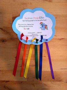 Hannah's Rainbow Dash birthday invitation