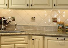 White Tile Kitchen Wall Tiles Design
