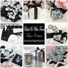black and white favors favor couture