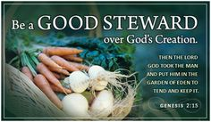 For Earth Day, be a good steward over God's Creation!