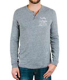 Mens Seattle Seahawks Huddle Henley