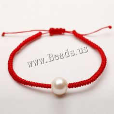 Freshwater Cultured Pearl Bracelet Freshwater Pearl Waxed Cotton Cord Potato natural adjustable different size for choice whit Bracelet Crafts, Macrame Bracelets, Ankle Bracelets, Jewelry Bracelets, Pearl Bracelets, Pearl Rings, Pearl Necklaces, Pearl Wax, Cement Jewelry