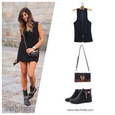 Copia el look!! Las bloggers son todo un referente de moda,en este caso nos hemos fijado en Natalia de Trendy Taste,os atrevéis con su outfit?? En ties&heels si tienes un blog de moda podrás disfrutar de un 20% de descuento!! Todos los artículos los podréis adquirir en:  www.ties-heels.com #tiesheels #bloggers #moda #vest #leopardo #botines #descuentos