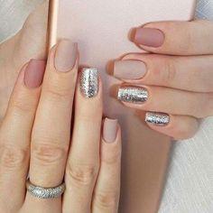 Mix and match nail rose pink nails #nails #naildesign