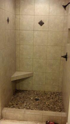 Custom tile work in shower.