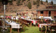 Bend Oregon Weddings Venues   Unlimited Outdoor Space Brasada Ranch   Wedding Locations in Oregon. Equestrian center dining.