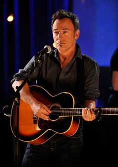 Bruce Springsteen, well lit.
