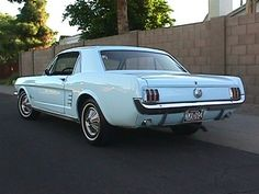 1966 mustang...baby blue, pony edition.