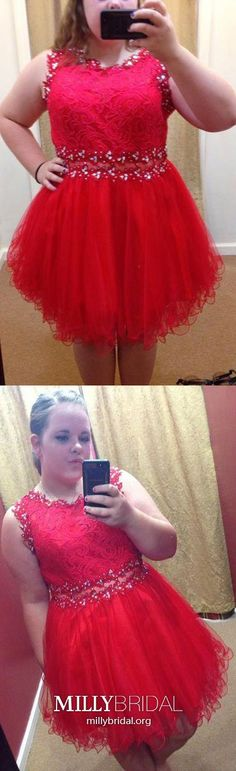 Red Homecoming Dresses Short, Plus Size Prom Dresses for Teens, A-line Sweet 16 Dresses Tulle, Sexy Cocktail Party Dresses Lace Vintage Homecoming Dresses, Elegant Homecoming Dresses, Modest Formal Dresses, Formal Dresses For Teens, Dresses Short, Tulle Prom Dress, Prom Dresses Online, Graduation Dresses, Evening Dresses