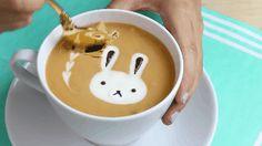 "foodiebliss: "" How to Make a Latte Art Mug Cake Source: Kawaii Sweet World Gifs: FoodieBliss Where food lovers unite. """