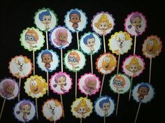 24 Bubble Guppies Cupcake Toppers Party Supplies by ileana909, $4.99