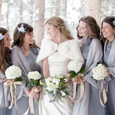 A winter wonderland wedding with lots of  sparkly details in silver and gold hues.